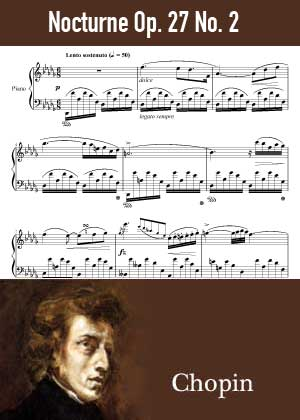 ID48133_Nocturne_Op_27_No_2 By Frederic Chopin with sheet music in PDF score in songnes.com