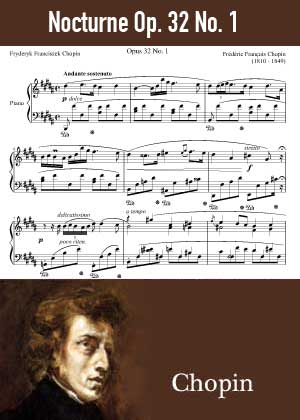 ID48134_Nocturne_Op_32_No_1 By Frederic Chopin with sheet music in PDF score in songnes.com