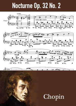 ID48135_Nocturne_Op_32_No_2 By Frederic Chopin with sheet music in PDF score in songnes.com