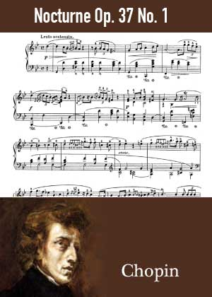 ID48136_Nocturne_Op_37_No_1 By Frederic Chopin with sheet music in PDF score in songnes.com