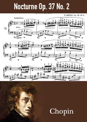 ID48137_Nocturne_Op_37_No_2 By Frederic Chopin with sheet music in PDF score in songnes.com