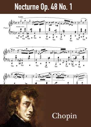 ID48138_Nocturne_Op_48_No_1 By Frederic Chopin with sheet music in PDF score in songnes.com