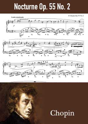 ID48141_Nocturne_Op_55_No_2 By Frederic Chopin with sheet music in PDF score in songnes.com