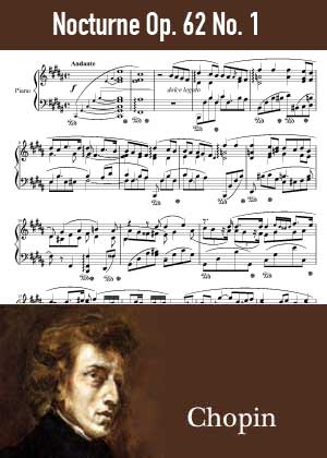 ID48142_Nocturne_Op_62_No_1 By Frederic Chopin with sheet music in PDF score in songnes.com