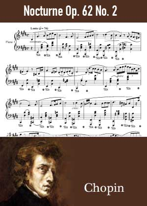 ID48143_Nocturne_Op_62_No_2 By Frederic Chopin with sheet music in PDF score in songnes.com