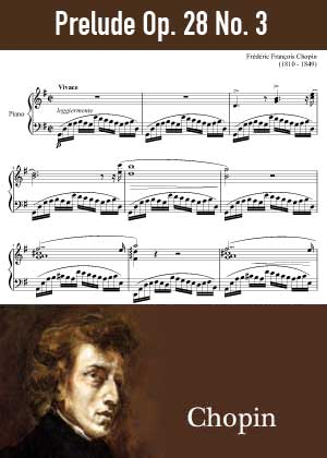 ID48147_Prelude_Op_28_No_3 By Frederic Chopin with sheet music in PDF score in songnes.com