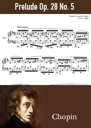 ID48149_Prelude_Op_28_No_5 By Frederic Chopin with sheet music in PDF score in songnes.com