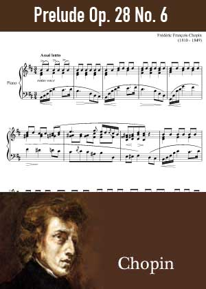 ID48150_Prelude_Op_28_No_6 By Frederic Chopin with sheet music in PDF score in songnes.com
