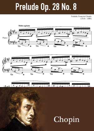 ID48152_Prelude_Op_28_No_8 By Frederic Chopin with sheet music in PDF score in songnes.com