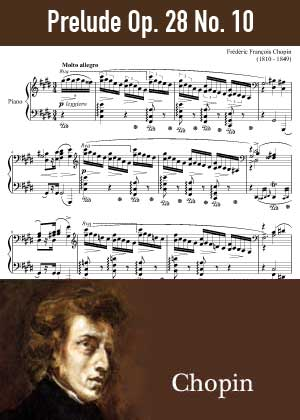 ID48154_Prelude_Op_28_No_10 By Frederic Chopin with sheet music in PDF score in songnes.com