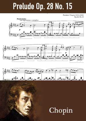 ID48159_Prelude_Op_28_No_15 By Frederic Chopin with sheet music in PDF score in songnes.com