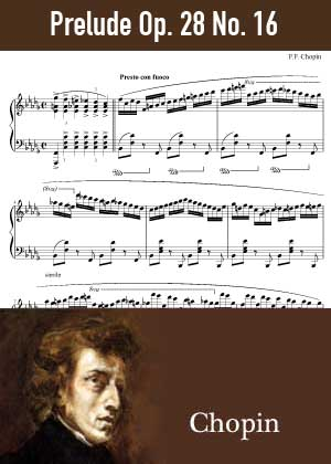 ID48160_Prelude_Op_28_No_16 By Frederic Chopin with sheet music in PDF score in songnes.com