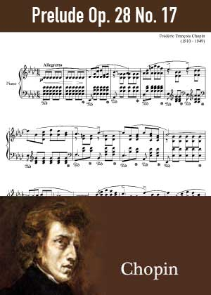 ID48161_Prelude_Op_28_No_17 By Frederic Chopin with sheet music in PDF score in songnes.com