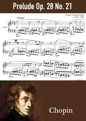 ID48165_Prelude_Op_28_No_21 By Frederic Chopin with sheet music in PDF score in songnes.com