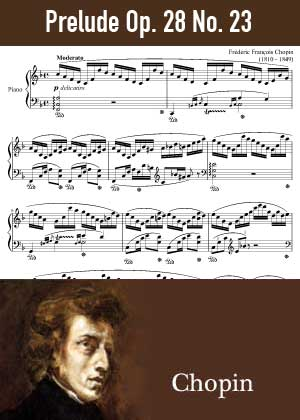 ID48167_Prelude_Op_28_No_23 By Frederic Chopin with sheet music in PDF score in songnes.com