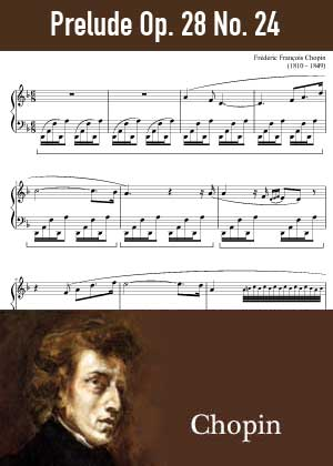ID48168_Prelude_Op_28_No_24 By Frederic Chopin with sheet music in PDF score in songnes.com