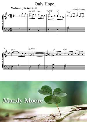 Only Hope By Mandy Moore with sheet musin in PDF