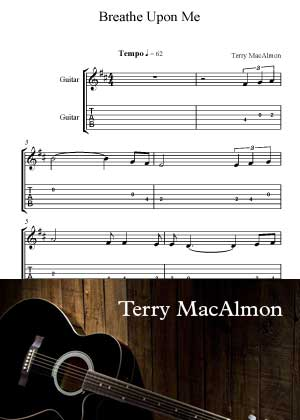 ID54021_Breathe_Upon_Me_Guitar By Terry MacAlmon with sheet music in PDF score in songnes.com
