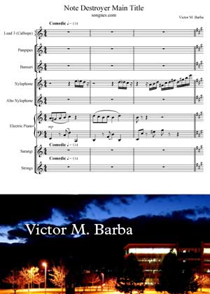 Note Destroyer Main Theme By Victor M Barba