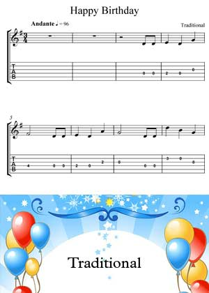 ID64002_Happy_Birthday with video tutorial and sheet music in PDF