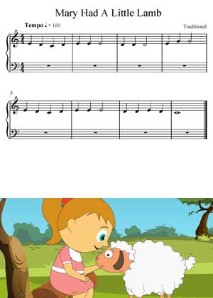 Mary Had A Little Lamb Children Song
