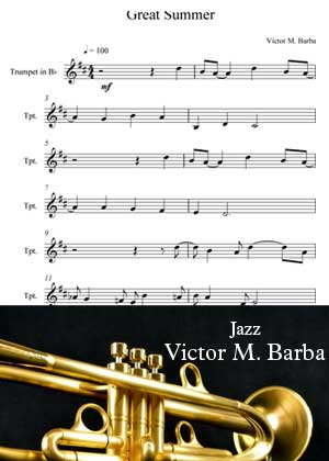 ID64045_Great_Summer_Trumpet By Victor M. Barba with sheet music in PDF score in songnes.com