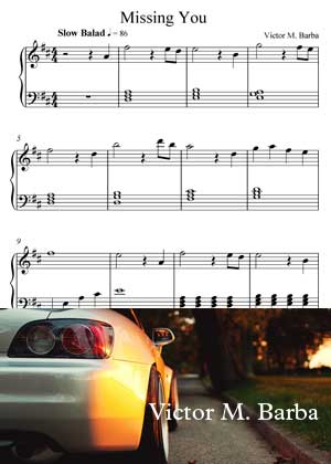 Missing You Sheet Music PDF By Victor M. Barba