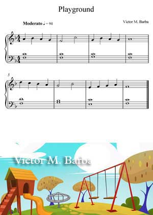 Playground By Victor M. Barba with sheet music in PDF