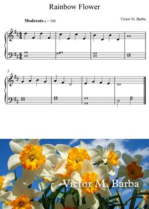 Rainbow Flowers By Victor M. Barba with sheet music in PDF