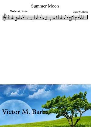 Summer Moon Children Song by Victor M. Barba sheet music with PDF