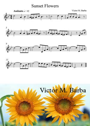 Sunset Flower By Victor M. Barba sheet music with PDF