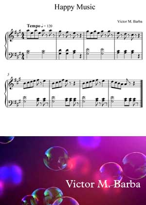 Happy Music By Victor M. Barba with sheet music in PDF and video tutorial