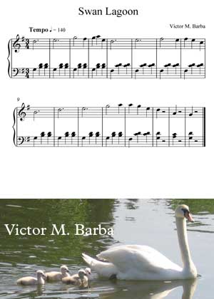 Swan Lagoon By Victor M. Barba with sheet music in PDF and video tutorial