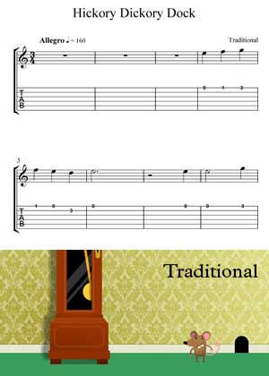 ID64113_Hickory_Dickory_Dock with video tutorial and sheet music in PDF