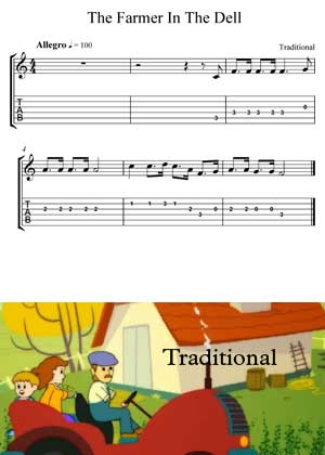 ID64117_The_Farmer_In_The_Dell las with video tutorial and sheet music in PDF
