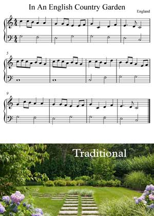 ID64121_In_An_English_Country_Garden with video tutorial and sheet music in PDF