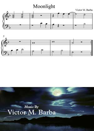 ID64122_Moonlight By Victor M. Barba with video tutorial and sheet music in PDF