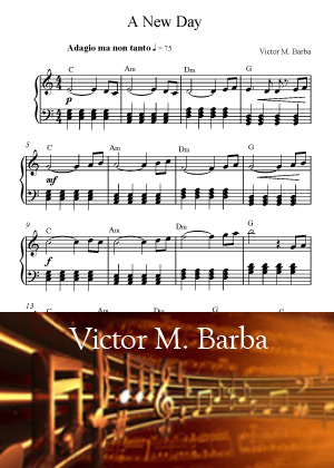 A New Day With Sheet Music PDF By Victor M. Barba