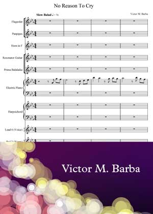 No Reason To Cry By Victor M Barba with sheet music PDF