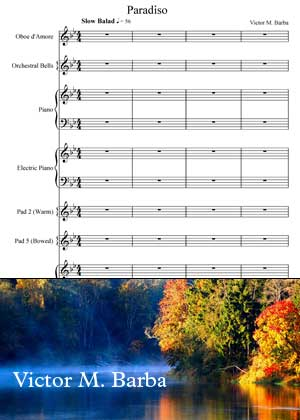 Paradiso With Sheet Music PDF By Victor M. Barba