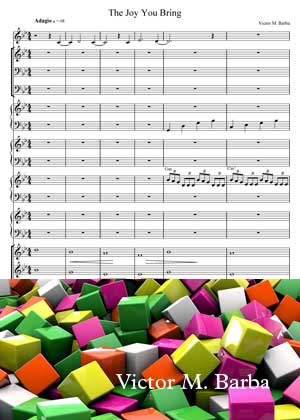 The Joy You Bring With Sheet Music PDF By Victor M. Barba