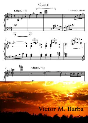 Ocaso With Sheet Music PDF Y Partitura By Victor M. Barba