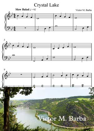 Crystal Lake With Sheet Music PDF By Victor M. Barba