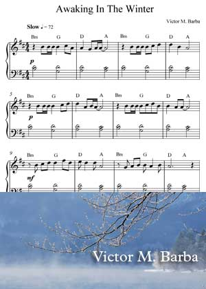 Awaking In The Winter With Sheet Music PDF By Victor M. Barba