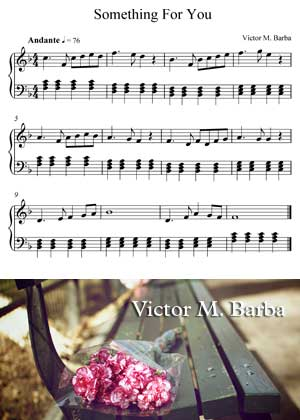 Something For You By Victor M. Barba with sheet music in PDF