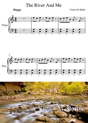 The River And Me Sheet Music PDF Y Partitura By Victor M. Barba