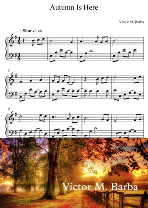 Autumn Is Here By Victor M. Barba With Sheet Music in PDF