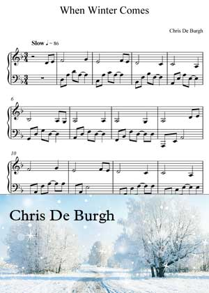 When Winter Comes By Chris De Burgh Sheet music in PDF