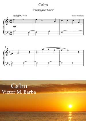 ID71109_Calm By Victor M. Barba with sheet music in PDF score and a video tutorial in songnes.com