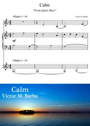 ID71109_Calm_Score By Victor M. Barba with sheet music in PDF score and a video tutorial in songnes.com